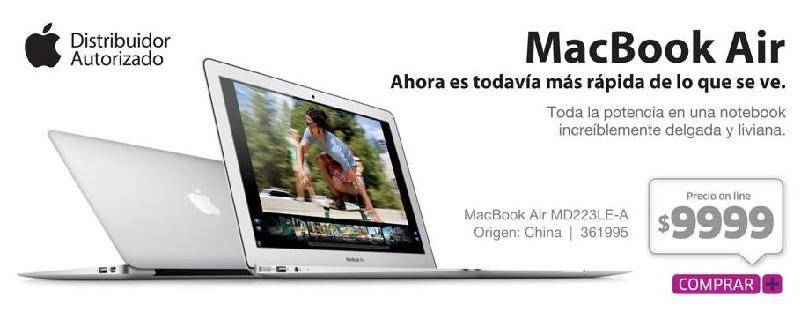 Macbook Air MD223LE-A en Argentina, Precio y Caracteristicas
