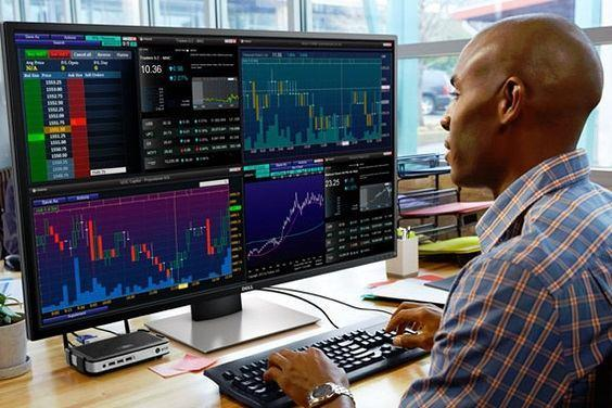 , Monitor Dell 43 Ultra 4K Multi Cliente para Traders o Agentes de Bolsa